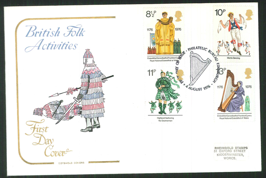 1976 Cotswold Culture FDC Phil Bureau Edinburgh Postmark