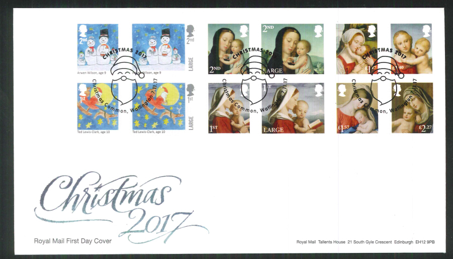 2017 Christmas FDC - Christmas Common, Watlington (Santa) Postmark